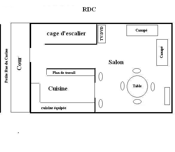 plan du gite le lapin marin f camp. Black Bedroom Furniture Sets. Home Design Ideas